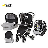 Hauck Malibu All-In-One Pushchair, Caviar/Silver