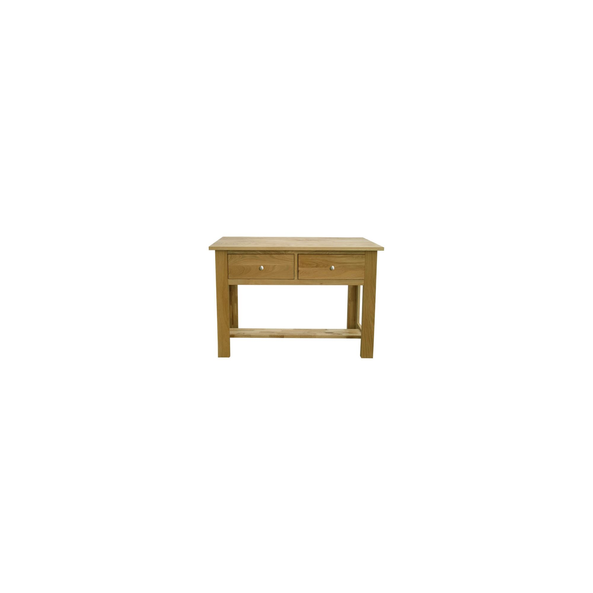 Home Zone Furniture Lincoln Oak 2009 Large Console Table at Tesco Direct