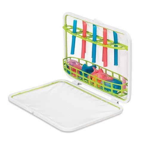 Munchkin Flexible Dishwasher Basket Green