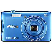 Nikon Coolpix S3700 Digital Camera, BLUE