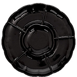 Black Compartment Tray - 30cm Plastic