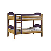 Maximus Bunk Bed 3ft Antique With Lilac Details