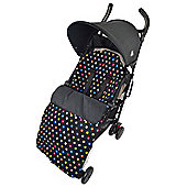 Fleece Footmuff To Fit Uppababy Multi Colour Dots