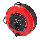 Silverline Cassette Cable Reel 240V 4 Socket 10A 10m