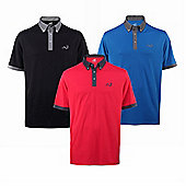 Woodworm Player Golf Polo Shirts - 3 Pack - Multi