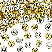 Gold & Silver Alphabet Beads (Pack of 400)