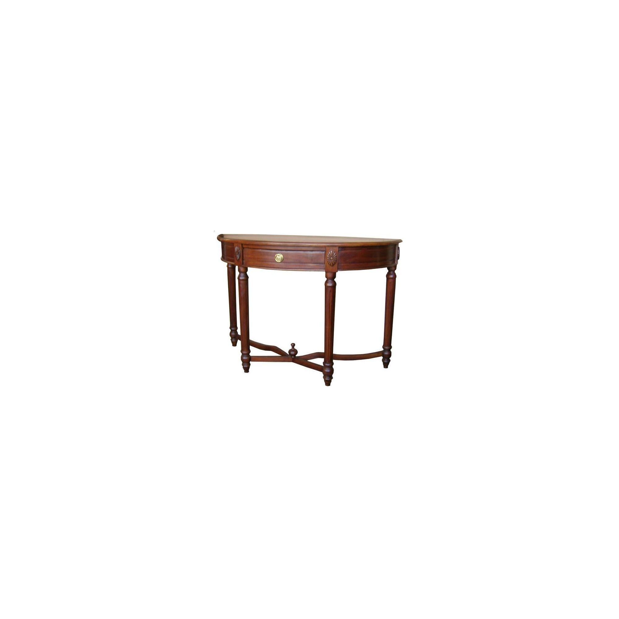 Lock stock and barrel Mahogany Regency Demi Lune Console Table in Mahogany at Tesco Direct