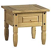 Home Essence Corona Corona Lamp Table in Distressed Waxed Pine (Set of 2)