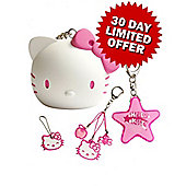 Hello Kitty Gift Set includes Coin Keeper, Handbag Charm, Key Cover, & Mini Torch
