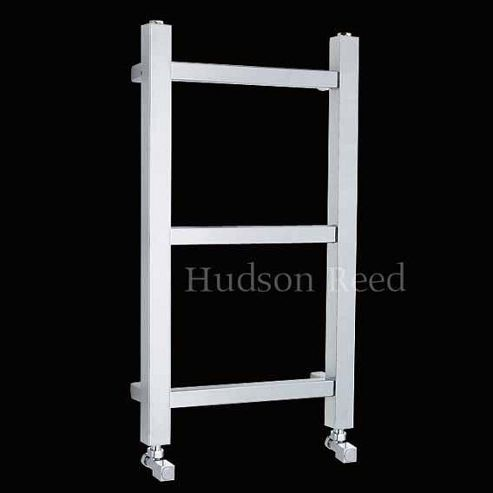 Hudson Reed Eton Cloakroom Towel Rail, 700mm High x 400mm Wide, Chrome