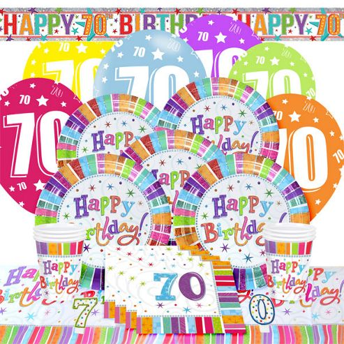 Buy 70th Radiant Birthday Party Pack - Deluxe from our All Party ...