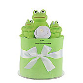 Mini Nappy Cake Bath Time Frog Newborn Baby Gift