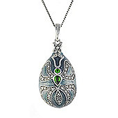 Gemondo Sterling Silver 0.44ct Chrome Diopside Faberge Egg Style 45cm Necklace