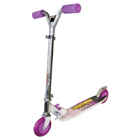 Ozbozz Lightning Bolt 2-Wheel Scooter, Black/Pink