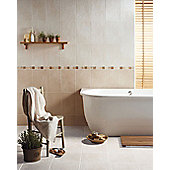 Buxton Dark Beige Ceramic Wall Tile 248x398mm Box of 10 (0.99 M² / Box)