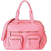 OiOi Faux Lizard Carry All Bag (Pink Lemonade)