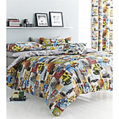 Catherine Lansfield Home Designer Collection Multi Coloured Retro Vintage Curtains