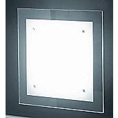 Lucente Trim Wall / Ceiling Light with Extra Clear Glass - 2 x 26W G24Q-3 TC-DE