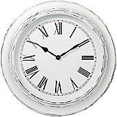 Parlane Wall Hanging Distressed Whitewashed Clock - 30cm