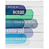 Life is an Ocean Medium Canvas 40 x 50cm