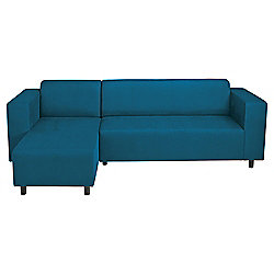 Stanza Corner Sofa Leather Effect Teal L H Facing
