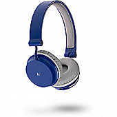 KitSound Metro Bluetooth Headphones Blue