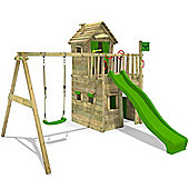 Fatmoose Crazy Cat Comfort XXL Climbing Frame With Swing and Apple Green Slide