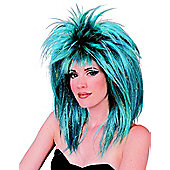 Blue And Turquoise Diva Wig
