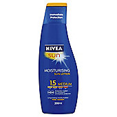 Nivea Sun Moisturising Sun Lotion 15 Medium 200ml
