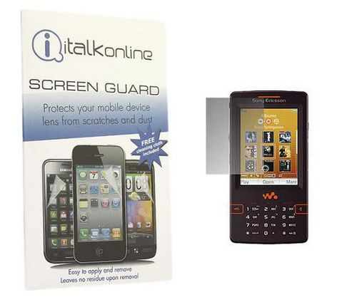 iTALKonline S-Protect LCD Screen Protector and Micro Fibre Cleaning Cloth - For  Sony Ericsson W950i