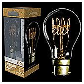 60w - Crystalite - Antique - PS60 GLS - BC - Clear - Quad Loop Filament - 1 pk Acetate Box