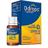 Ddrops Ddrops 2000IU 180 Drops