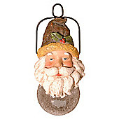 Polyresin Santa Head With Solar Glass Ball