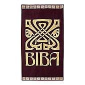 Biba Big Logo Plum Beach Towel