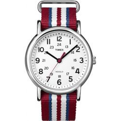 Timex T2N746 Men's Round Fabric Strap Watch
