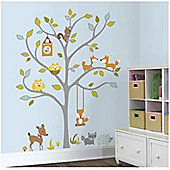 Woodland Fox and Friends Tree Decal