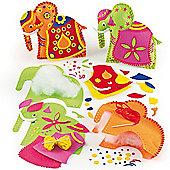 Elephant Cushion Craft Sewing Kits (2 Kits)