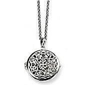 Filigree Silver Round Locket Necklace