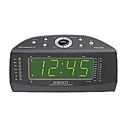 buy roberts chronoplus2 fm mw dual alarm clock radio with instant time set from our portable. Black Bedroom Furniture Sets. Home Design Ideas
