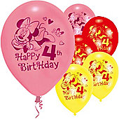 9' Disney Minnie Mouse 4th Birthday (6pk)
