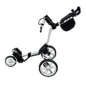 Big Max Mens Z Cart 3 Wheel Golf Trolley in White