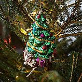 Kitsch Glass Christmas Tree & Presents Decoration