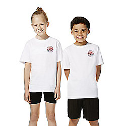 Unisex Embroidered School T-Shirt years 05 - 06 White