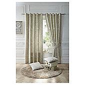 Nostalgia Lined Eyelet Curtains - Natural