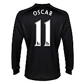 2013-14 Chelsea Away Long Sleeve Shirt (Oscar 11) - Kids - White