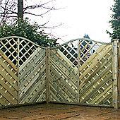 6FT Wavey Chevron Weave Panels + Trellis - 1 Panel Only 6'