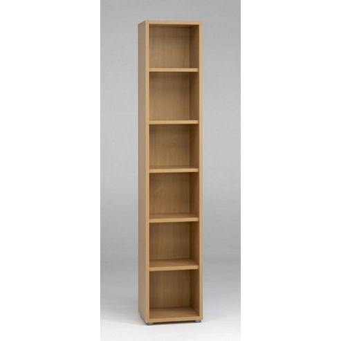 buy tvilum bocca slim bookcase in walnut light