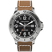 Grayton Comet.Jet Mens Leather Date Watch GR-0014-003.5