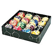 Competition 2'' Marble Spots & Stripes Pool Ball Set