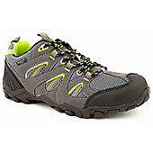 Mountain Peak Boys Outback Green and Grey Walking Trainers - Grey